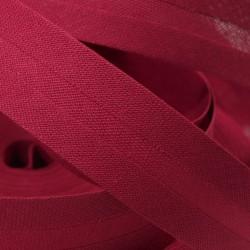 Šikmý proužek bavlněný - bordó 300641, šíře 20mm, 1m