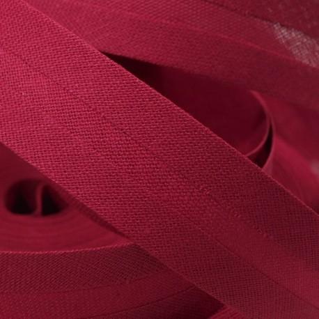 Šikmý proužek bavlněný - bordó 300641, šíře 20mm