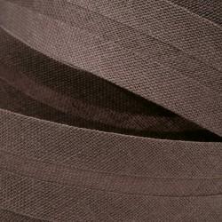 Šikmý proužek bavlněný - šedohnědý 800973, šíře 20mm