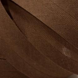 Šikmý proužek bavlněný - hnědý 800953, šíře 20mm, 1m