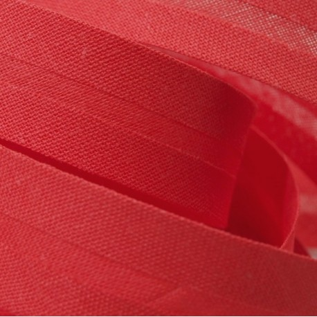 Šikmý proužek bavlněný - červený 327132, šíře 20mm