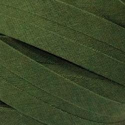 Šikmý proužek bavlněný - khaki 700472, šíře 20mm, 1m