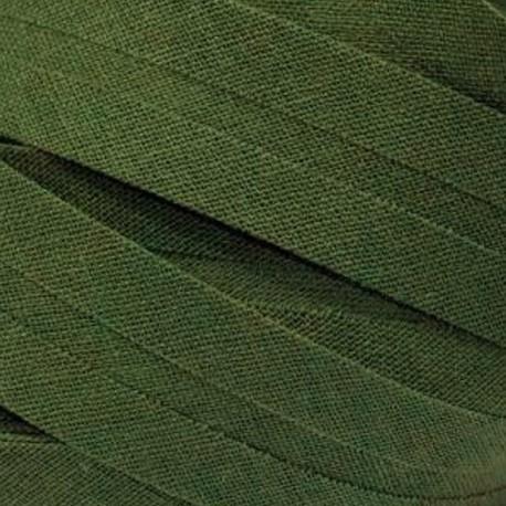 Šikmý proužek bavlněný - khaki 700472, šíře 20mm