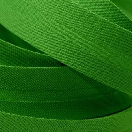 Šikmý proužek bavlněný - sytě zelený 700385, šíře 20mm