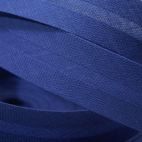 Šikmý bavlněný proužek - královsky modrý, šíře 14mm
