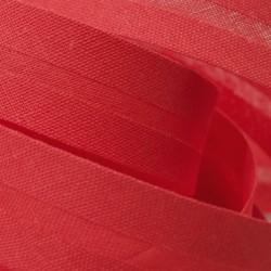 Šikmý proužek bavlněný - červený 327132, šíře 14mm, 1m
