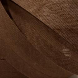 Šikmý proužek bavlněný - tmavě hnědý 800953, šíře 14mm, 1m