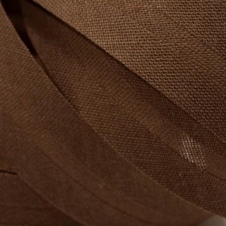 Šikmý proužek bavlněný - hnědý 800953, šíře 14mm