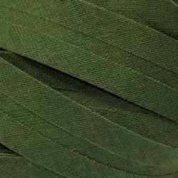 Šikmý proužek bavlněný - khaki 700472, šíře 14mm, 1m