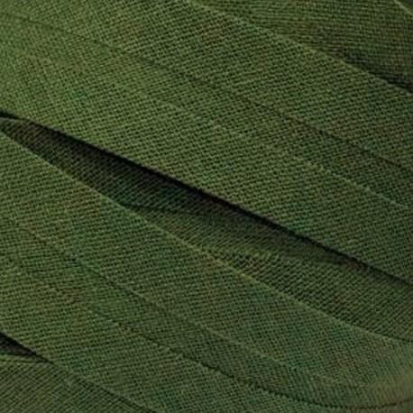 Šikmý proužek bavlněný - khaki 700472, šíře 14mm