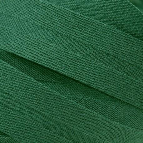 Šikmý proužek bavlněný - tmavě zelený 754551, šíře 14mm