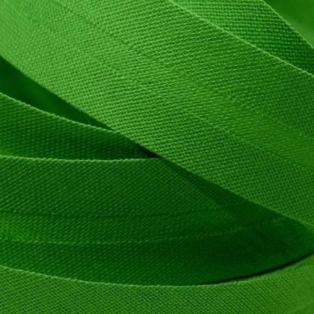 Šikmý proužek bavlněný - sytě zelený 700385, šíře 14mm
