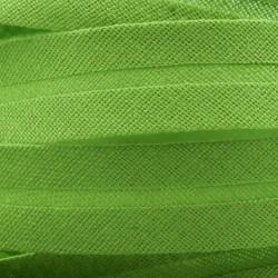 Šikmý proužek bavlněný - zelený 700414, šíře 14mm, 1m