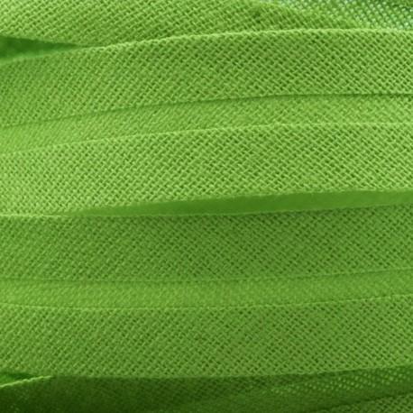 Šikmý proužek bavlněný - zelený 700414, šíře 14mm