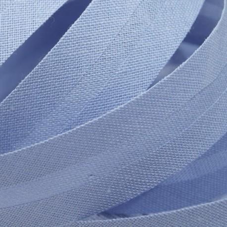 Šikmý proužek bavlněný - světle modrý 500155, šíře 14mm
