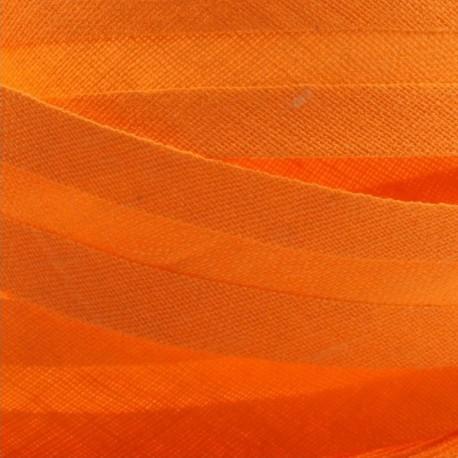 Šikmý proužek bavlněný - oranžový 140550, šíře 14mm