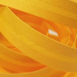 Šikmý proužek bavlněný - sytě žlutý 143662, šíře 14mm, 1m