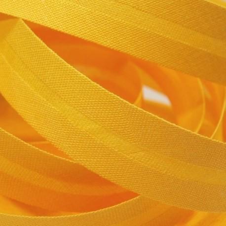 Šikmý proužek bavlněný - sytě žlutý 143662, šíře 14mm