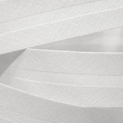 Šikmý proužek bavlněný - bílý 100, šíře 14mm, 1m