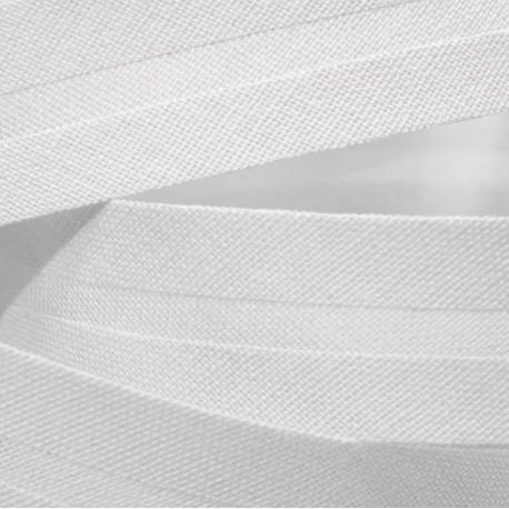 Šikmý proužek bavlněný - bílý 100, šíře 14mm