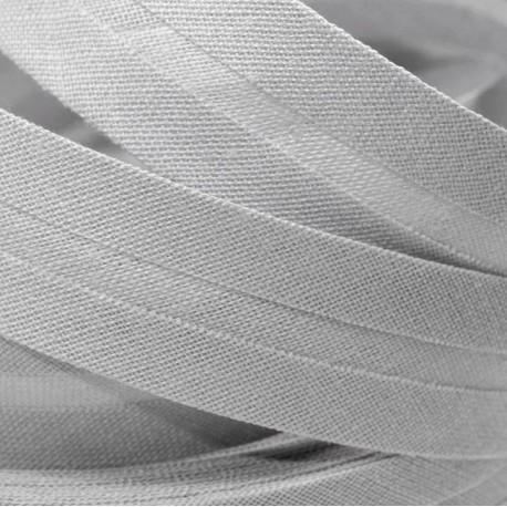 Šikmý proužek bavlněný - světle šedý 943251, šíře 14mm