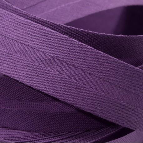 Šikmý proužek bavlněný - tmavě fialový 400223, šíře 14mm