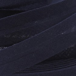 Šikmý proužek bavlněný - námořní modrý 529753, šíře 14mm, 1m