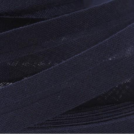 Šikmý proužek bavlněný - námořní modrý 529753, šíře 14mm