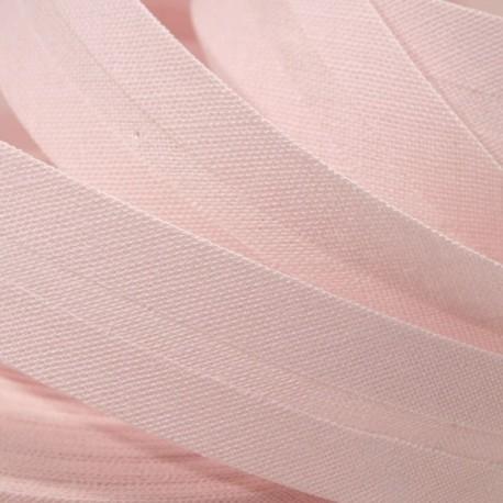 Šikmý proužek bavlněný - světlounce růžový 372151, šíře 14mm