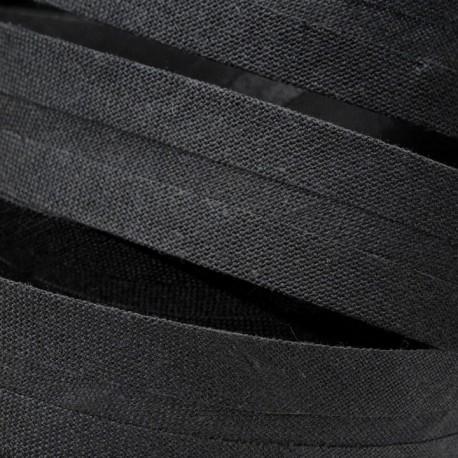 Šikmý proužek bavlněný - černý 999143, šíře 30mm