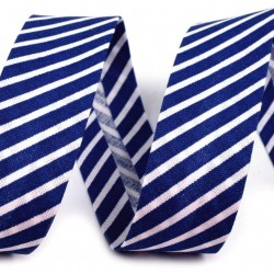 Šikmý proužek bavlněný - modrý proužek, šíře 20mm