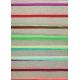 Viskóza s EL - Proužky barevné na šedé, opakování vzoru