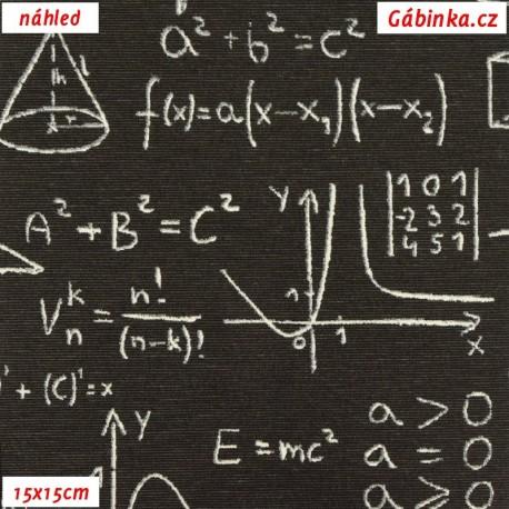 Režné plátno - Matematika na černé, 15x15 náhled