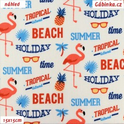 Plátno - Summer Beach na bílé, 15x15 cm