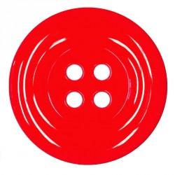 Knoflík 58 mm - červený, 1 ks