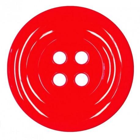 Knoflík 58 mm - červený
