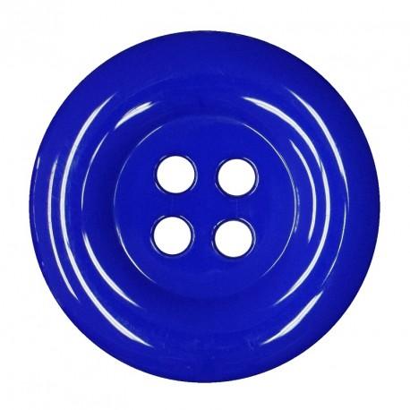 Knoflík 58 mm - královsky modrý