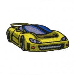 nažehlovačka - zelenožluté sportovní auto