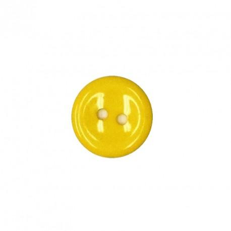 Knoflík 15 mm - žlutý, 1 ks