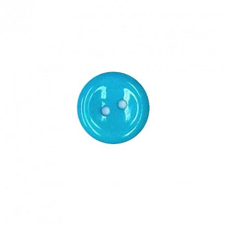 Knoflík 15 mm - tyrkysový, 1 ks