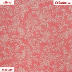 Plátno - Borůvčí na světle růžové batice, šíře 140 cm, 10 cm