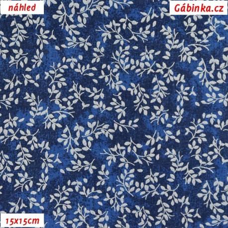 Plátno - Borůvčí na tmavě modré batice, 15x15 cm
