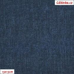 Kočárkovina Premium, Modrá jeans podklad k Motýli na jeans, šíře 160 cm, 10 cm