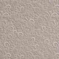 Zbytek - Koženka, Ornamenty na světle šedé, DSOFT 08, šíře 140 cm, 50 cm