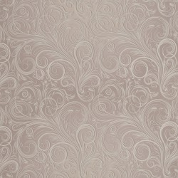Zbytek - Koženka, Ornamenty na bílé kávě II. jakost, DSOFT 07, šíře 140 cm, 40 cm