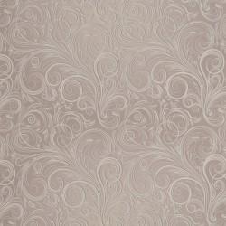 Zbytek - Koženka, Ornamenty na bílé kávě, DSOFT 07, šíře 140 cm, 80 cm