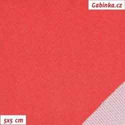 Zbytek - Koženka, červená hladká, H 905, 60 x 90 cm