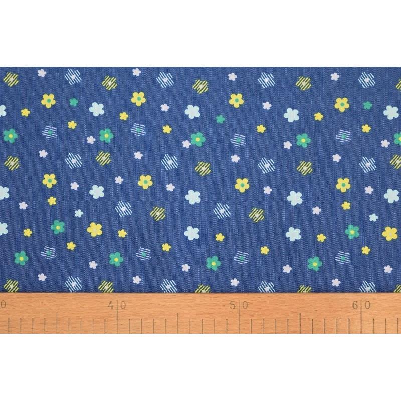 a0cb01b9f6c3 ... Riflovina - Barevné kytičky na modré