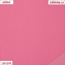 Riflovina - Růžová jednobarevná, šíře 140 cm, 10 cm