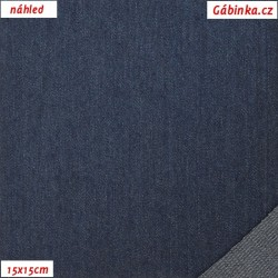 Riflovina - Tmavě modrá jednobarevná, náhled 15x15 cm